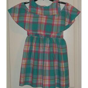 Little girls Gap Summer plaid dress cotton 8 EUC